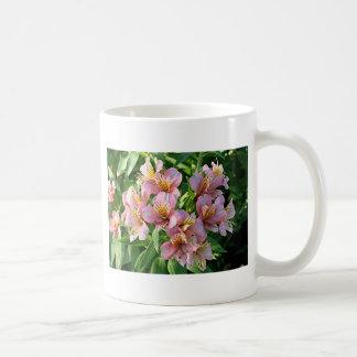 Peruvian lily (alstroemeria) flowers in bloom coffee mug