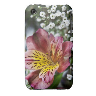 Peruvian Lily and gypsophila flower iPhone 3g Case