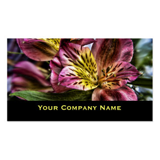 Peruvian Lily flower Custom Business Cards