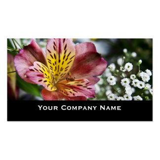 Peruvian Lily flowerCustom Business Cards