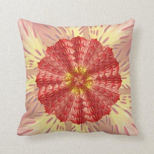 Peruvian Lily Mandala Throw Pillow