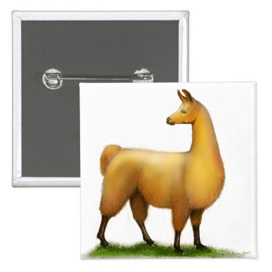 Peruvian Llama Button