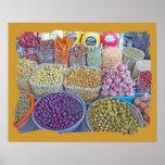 Peruvian Matket-Olives Print