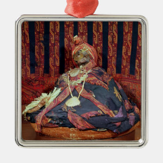 Peruvian mummy from the Paracas cemetery Christmas Tree Ornaments