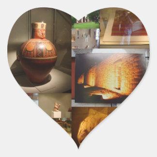 Peruvian Museum 02 Heart Sticker