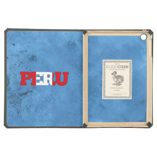 Peruvian name and flag on cool wall cover for iPad air