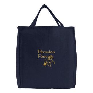 Peruvian Paso Embroidered Horse Design Bags