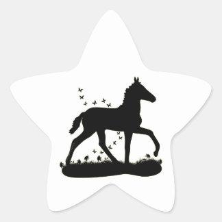 Peruvian Paso Foal Butterflies Star Sticker