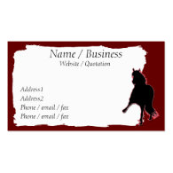 Peruvian Paso Horse Banner Profile Business Card Template