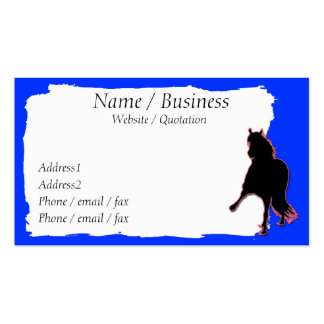 Peruvian Paso Horse Banner Profile Double-Sided Standard Business Cards (Pack Of 100)