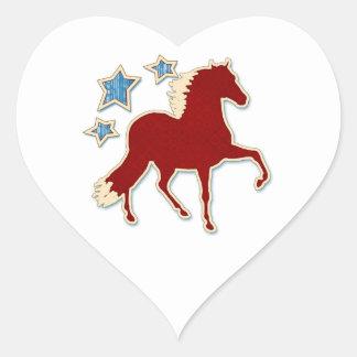 Peruvian Paso Horse Festive Stars Heart Sticker