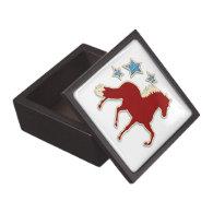 Peruvian Paso Horse Festive Stars Premium Trinket Boxes