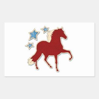 Peruvian Paso Horse Festive Stars Rectangular Sticker