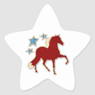Peruvian Paso Horse Festive Stars Star Sticker