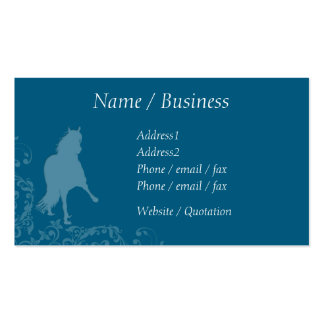 Peruvian Paso Horse Flourish Profile Double-Sided Standard Business Cards (Pack Of 100)