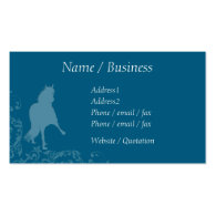 Peruvian Paso Horse Flourish Profile Business Card