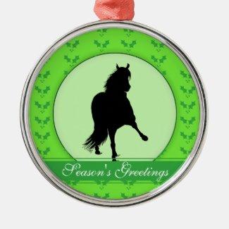 Peruvian Paso Horse Season's Greetings Christmas Tree Ornament