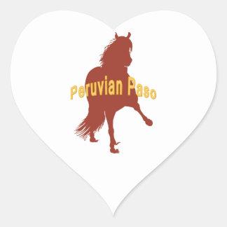 Peruvian Paso Horse Rust Silhouette Heart Sticker
