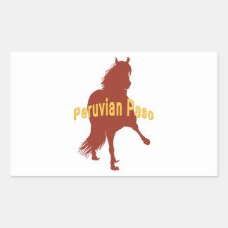 Peruvian Paso Horse Rust Silhouette Rectangular Sticker