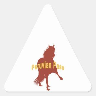 Peruvian Paso Horse Rust Silhouette Triangle Sticker