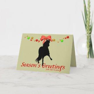 Peruvian Paso Horse Silhouette Christmas Card