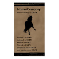 Peruvian Paso Horse Silhouette Personal Business Business Card Templates