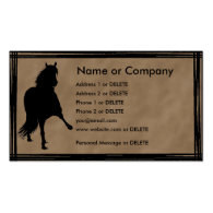 Peruvian Paso Horse Silhouette Personal Profile Business Cards