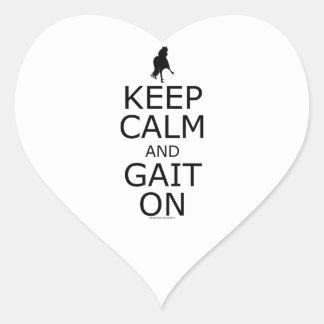 Peruvian Paso Keep Calm Gait On Heart Sticker