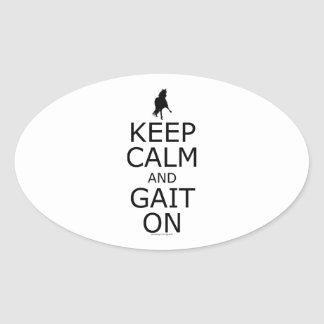 Peruvian Paso Keep Calm Gait On Oval Sticker