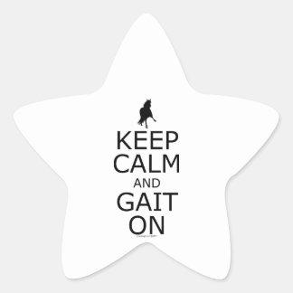 Peruvian Paso Keep Calm Gait On Star Sticker