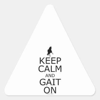 Peruvian Paso Keep Calm Gait On Triangle Sticker