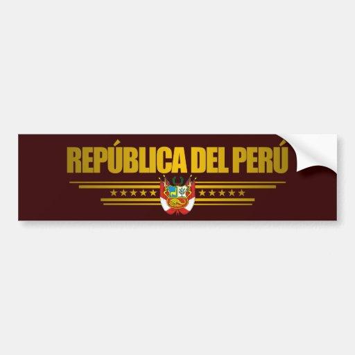 """""""Peruvian Pride"""" Bumper Sticker"""