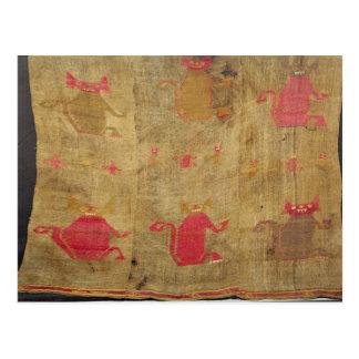 Peruvian shroud; cotton and vicuna brocaded postcard