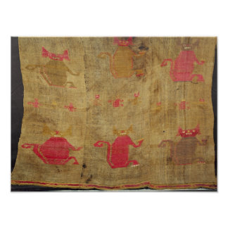 Peruvian shroud; cotton and vicuna brocaded poster
