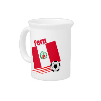 Peruvian Soccer Team Drink Pitchers