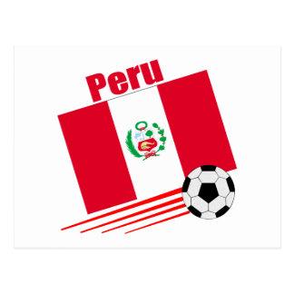 Peruvian Soccer Team Postcard