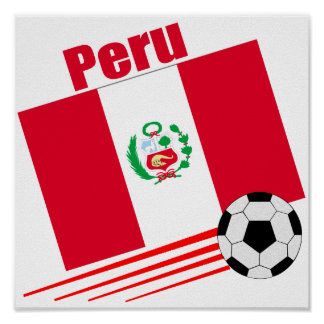Peruvian Soccer Team Poster