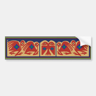 Peruvian Two-Headed Tribal Bird Bumper Sticker