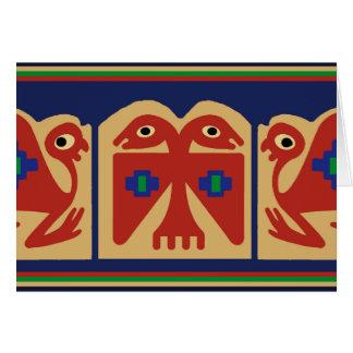 Peruvian Two-Headed Tribal Bird Card