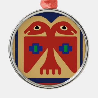 Peruvian Two-Headed Tribal Bird Metal Ornament