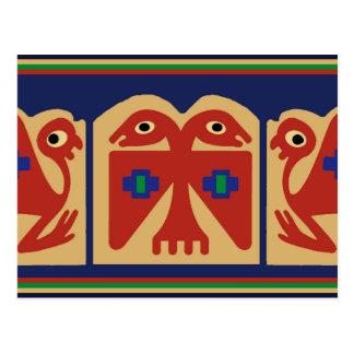 Peruvian Two-Headed Tribal Bird Postcard