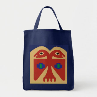 Peruvian Two-Headed Tribal Bird Tote Bag