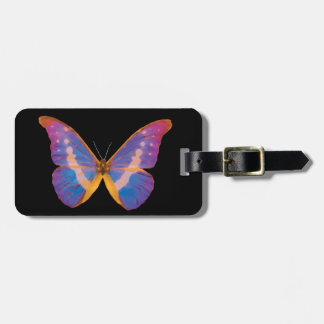 Peruvian Watercolor Butterfly Luggage Tag