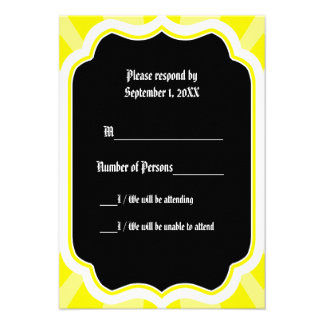 Pervade Ebony VII Yellow RSVP Card