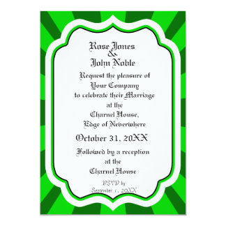 Pervade Ivory VI (Lime) Wedding Invitation