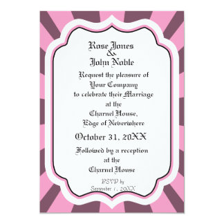 Pervade Ivory VI (Pink) Wedding Invitation
