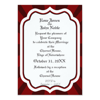 Pervade Ivory VI (Red) Wedding Invitation