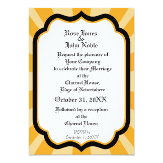 Pervade Ivory VII (Amber) Wedding Invitation