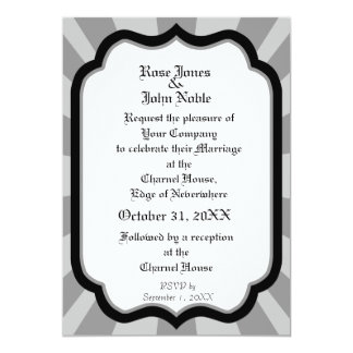 Pervade Ivory VII (Grey) Wedding Invitation
