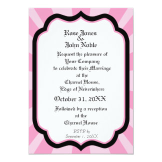 Pervade Ivory VII (Pink) Wedding Invitation